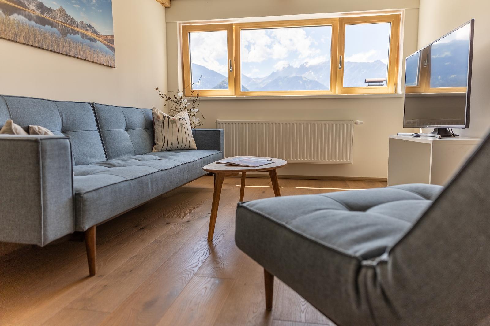 Villa Blau Apartement 5 Wohnzimmer