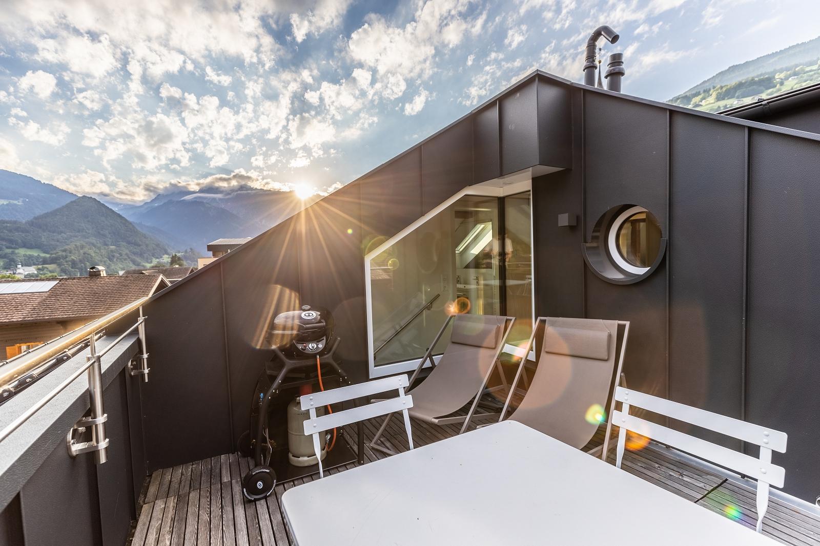 Villa Blau Apartement 5 Terrasse